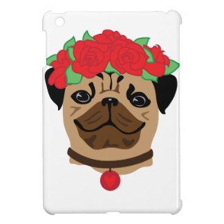 Funny dog. Cute pug with flower wreath iPad Mini Case