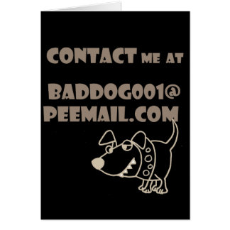Funny Dog Email Peemail Contact Card