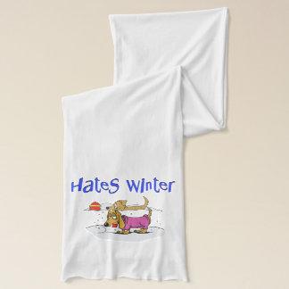 Funny Dog Hates Winter Scarf