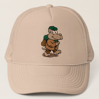 Funny dog hiker trucker hat
