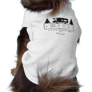 Funny Dog King of the RV   Cute Camping RVer RVing Shirt