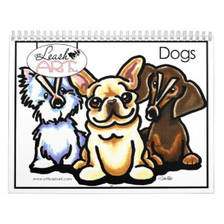 Funny Dog Lover Cartoons Calender by Off-Leash Art Calendars