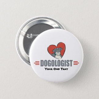 Funny Dog Lovers and Heart 2 Inch Round Button
