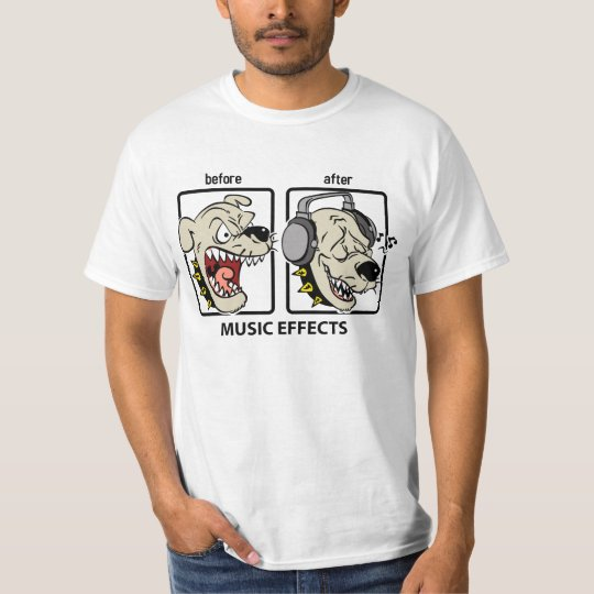 Funny Dog Music Effects T-Shirt