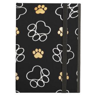 Funny Dog Pawprints On Black, iPad Air Case