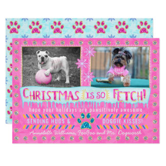 Funny Dog Pet Christmas Holiday Photo | So Fetch Card