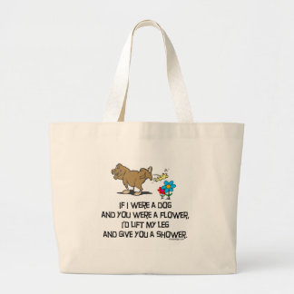 Funny Dog Poem Large Tote Bag