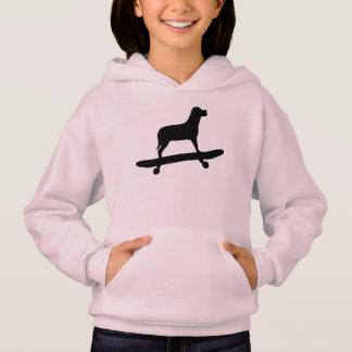 Funny Dog Skateboard Hoodie for Girls