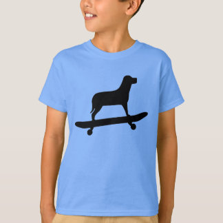 Funny Dog Skateboard T Shirt for Kids