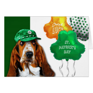 Funny Dog. St. Patrick's Day Fun Greeting Card
