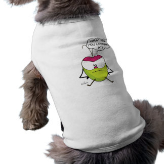 Funny dog t-shirt with grumpy Pulga the flea