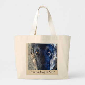 "Funny Dog tote bag ""You looking at Me?"