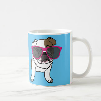 Funny Dog wearing sunglasses Coffee Mugs