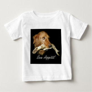 Funny Dog with Horse's Teeth Bone Baby T-Shirt