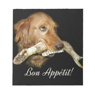 Funny Dog with Horse's Teeth Bone Notepad