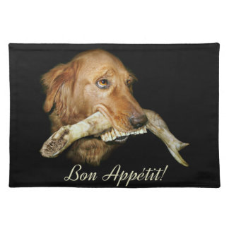 Funny Dog with Horse's Teeth Bone Placemat