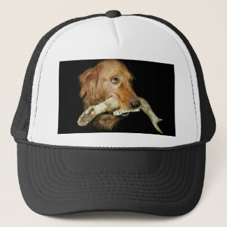 Funny Dog with Horse's Teeth Bone Trucker Hat