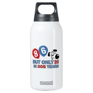 Funny dog years 86 year old designs SIGG thermo 0.3L insulated bottle