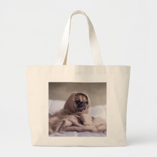 Funny doggy large tote bag