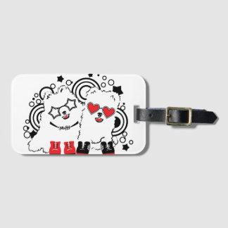 Funny dogs. Cute animal festive cool design Luggage Tag