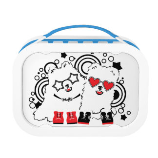 Funny dogs. Cute animal festive cool design Lunch Box