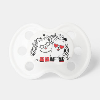 Funny dogs. Cute animal festive cool design Pacifier