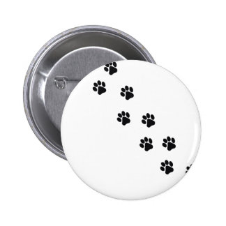 Funny dog's paw  print 2 inch round button