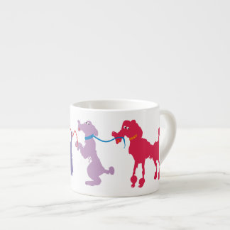 Funny dogs with lead espresso cup
