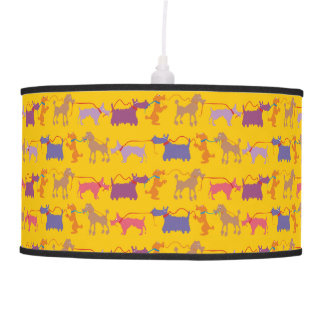 Funny dogs with lead pendant lamp