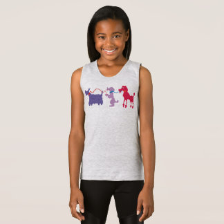 Funny dogs with lead. tank top