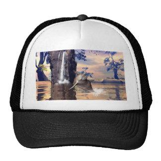 Funny dolphin trucker hat