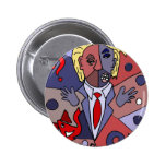 Funny Donald Trump Art Abstract 2 Inch Round Button