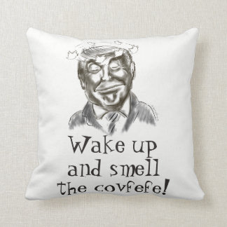 Funny Donald Trump Covfefe Nap Throw Pillow
