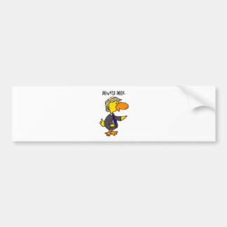 Funny Donald Trump Dork Political Cartoon Bumper Sticker