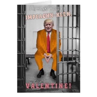 Funny Donald Trump Impeachment Valentine's Day Card