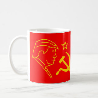 Funny Donald Trump Profile Hammer and Sickle Coffee Mug