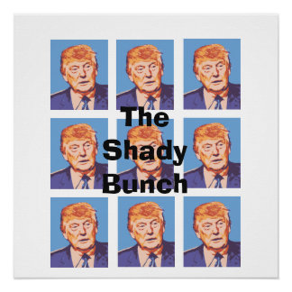Funny Donald Trump The Shady Bunch Poster Perfect Poster