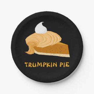 Funny Donald Trump Trumpkin Pie 7 Inch Paper Plate