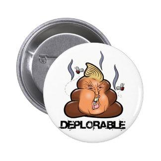 Funny Donald Trump - Trumpy-Poo Poo Emoji Icon 2 Inch Round Button