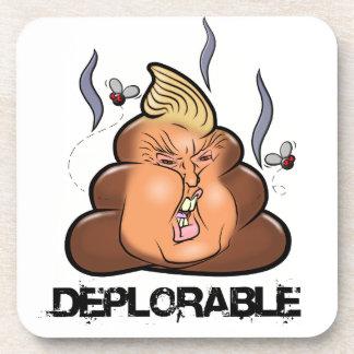 Funny Donald Trump - Trumpy-Poo Poo Emoji Icon Coasters