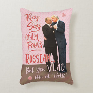 Funny Donald Trump Vladimir Putin Valentine's Day Accent Pillow