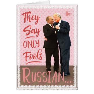 Funny Donald Trump Vladimir Putin Valentine's Day Card