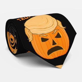 Funny Donald Trumpkin Pumpkin Jack-o-lantern Tie