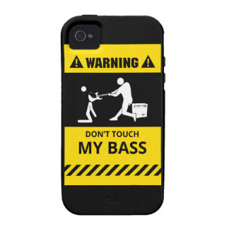 Funny Don't Touch My Bass Case-Mate iPhone 4 Case