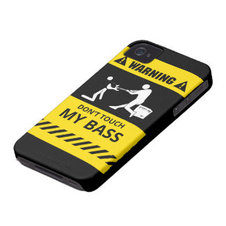 Funny Don't Touch My Bass iPhone 4 Case-Mate Cases
