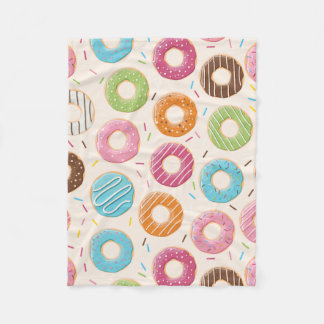 Funny Donut Fleece Blanket