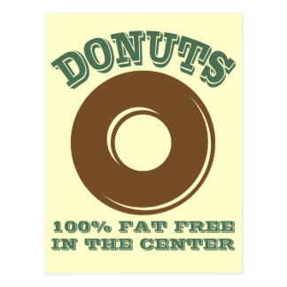 Funny Donut Postcard