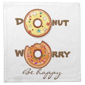 """Funny """"Donut worry, be happy"""" Napkin"""