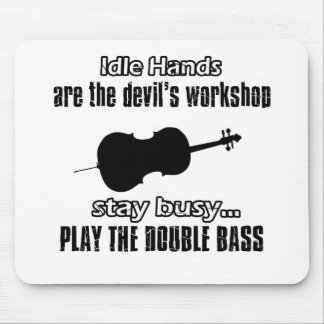 Funny double bass designs mouse pad