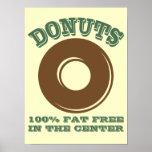 Funny Doughnut Poster